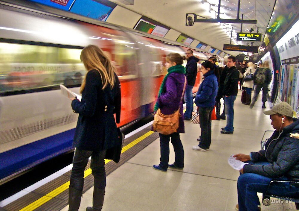 In their own Worlds - London tube by welshie
