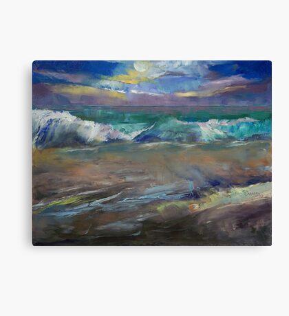 Moonlit Waves Canvas Print