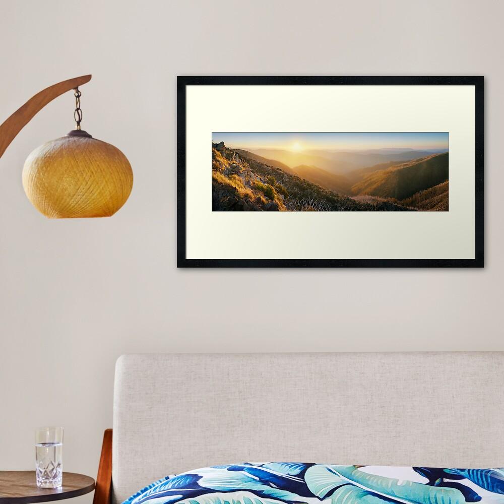 On the Razorback, Mt Hotham, Victoria, Australia Framed Art Print