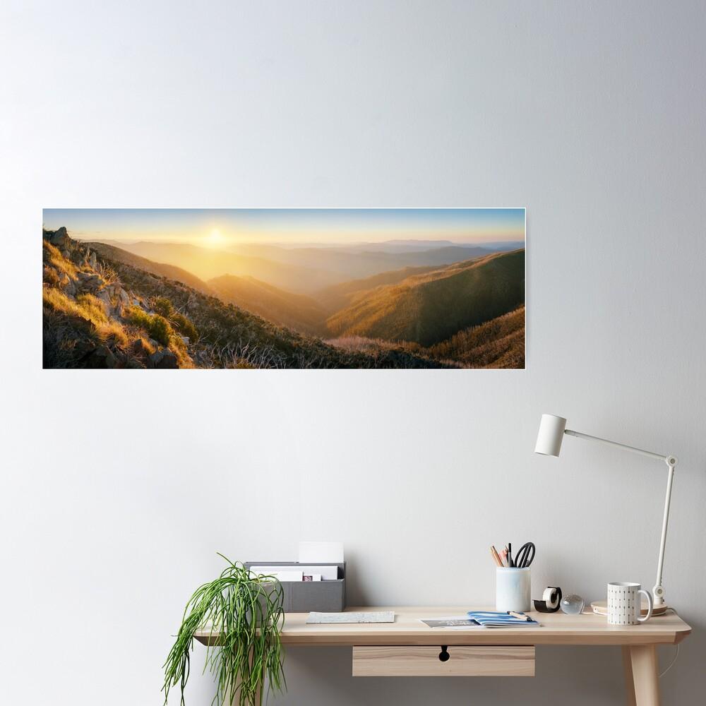 On the Razorback, Mt Hotham, Victoria, Australia Poster