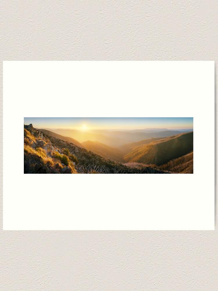 Alternate view of On the Razorback, Mt Hotham, Victoria, Australia Art Print