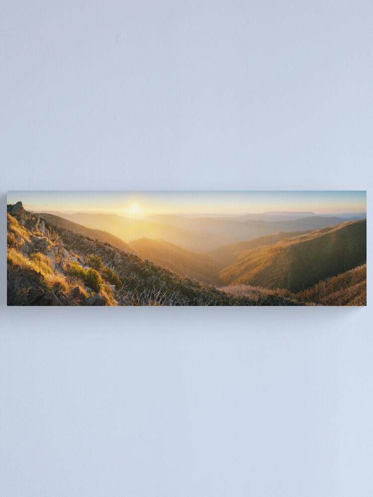 Alternate view of On the Razorback, Mt Hotham, Victoria, Australia Canvas Print