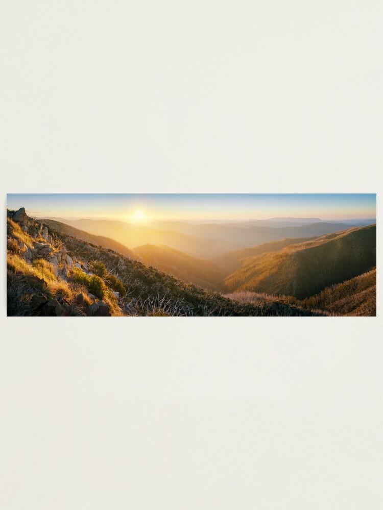 Alternate view of On the Razorback, Mt Hotham, Victoria, Australia Photographic Print