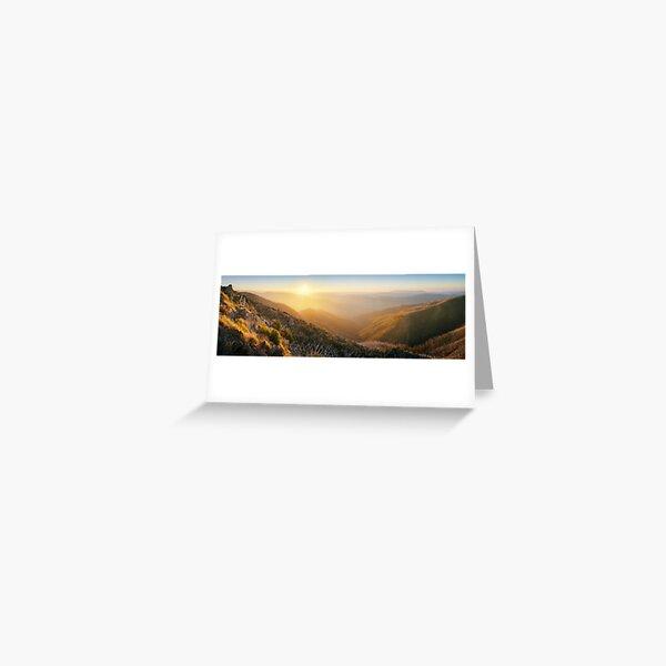 On the Razorback, Mt Hotham, Victoria, Australia Greeting Card