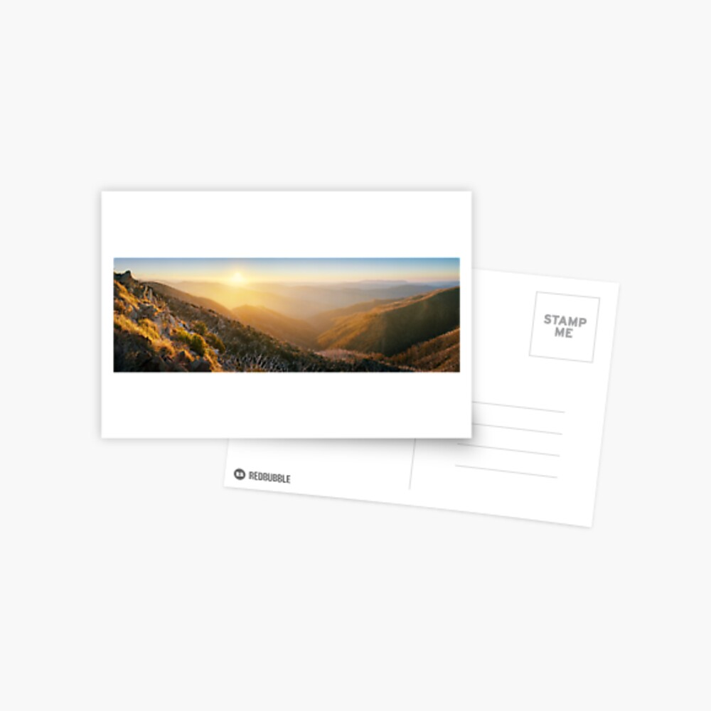 On the Razorback, Mt Hotham, Victoria, Australia Postcard
