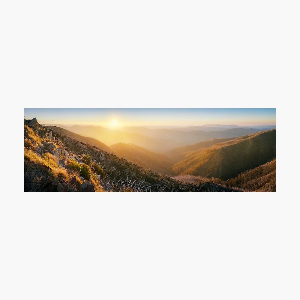 On the Razorback, Mt Hotham, Victoria, Australia Photographic Print