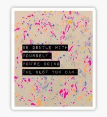 Gentleness Sticker