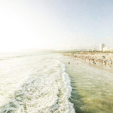 Santa Monica Pier Beach by CaliforniaPhoto