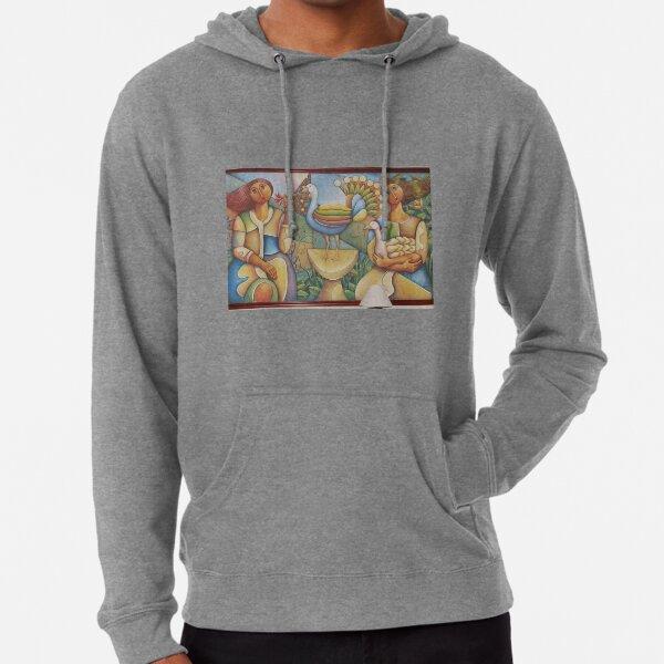 #Fantastic #bird #surrounded #two #girls #Painting #wall #hotel #cartoon #modernart #art #illustration #painting #god #mural #horizontal #colorimage #design #colors #people #imagination #designprof Lightweight Hoodie