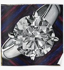 Diamond Grisaille Poster