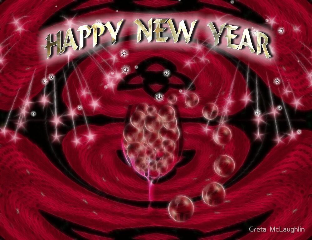 HAPPY NEW YEAR by Greta  McLaughlin