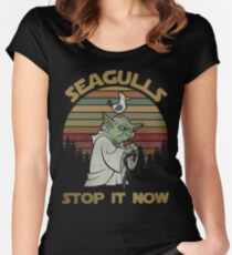Seagulls stop it now vintage shirt Fitted Scoop T-Shirt