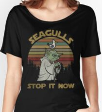 Seagulls stop it now vintage shirt Women's Relaxed Fit T-Shirt