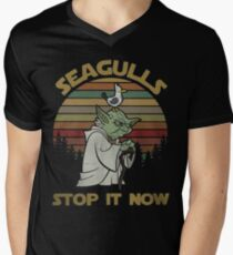 Seagulls stop it now vintage shirt Men's V-Neck T-Shirt