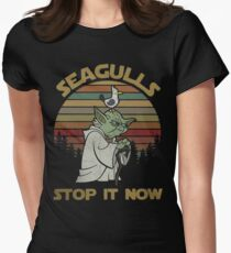 Seagulls stop it now vintage shirt Women's Fitted T-Shirt
