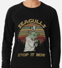 Möwen stoppen es jetzt Vintage-Shirt Leichtes Sweatshirt