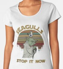 Seagulls stop it now vintage shirt Women's Premium T-Shirt