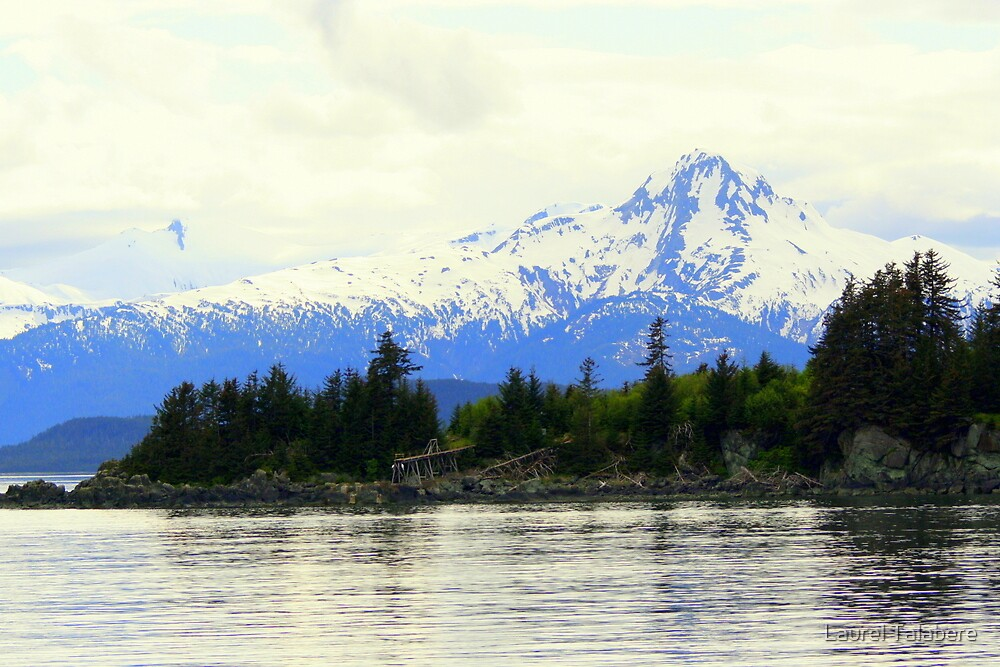 Snow-capped Mountain near Juneau by Laurel Talabere