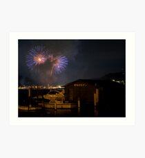 Gosford Fireworks Art Print