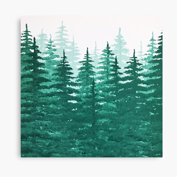 Pine Tree Forest  Canvas Print