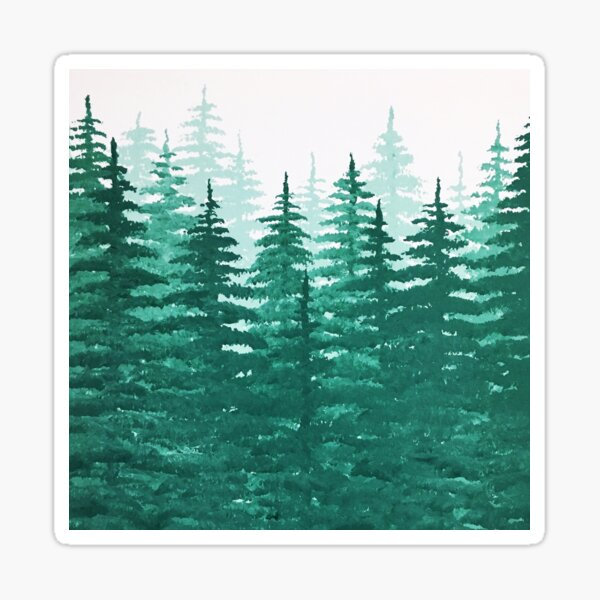 Pine Tree Forest  Sticker