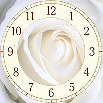 Rose clock by ViviennePoet