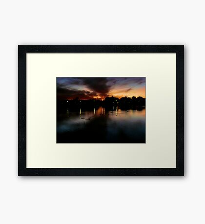 The Warm Glow Of A Days Last Light Framed Print