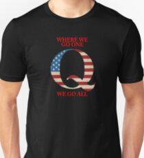 WWG1 Q, qanon patriot - Phone Case, Shirts, Hoods & Stickers Slim Fit T-Shirt