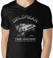 Delorean in Flight  Men's V-Neck T-Shirt