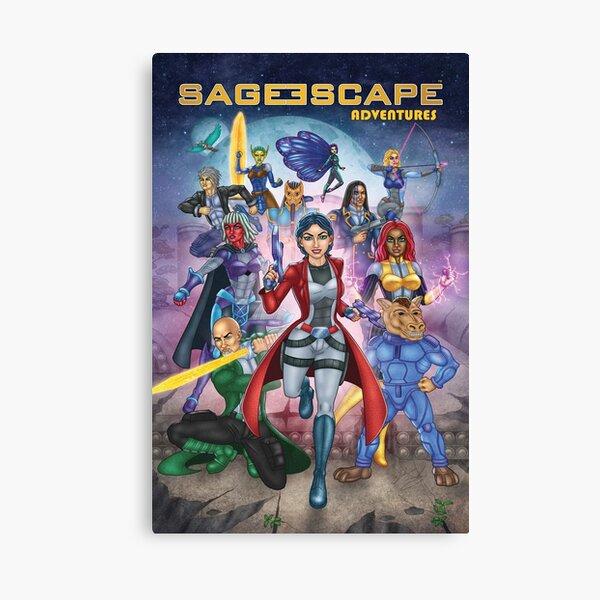 Sage Escape Adventures Main Characters Canvas Print