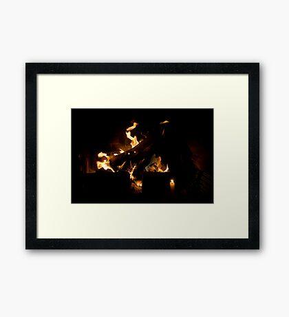The mystical New Year night Framed Print