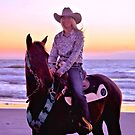 Carie And Kitty At Sunrise by Dawne Dunton