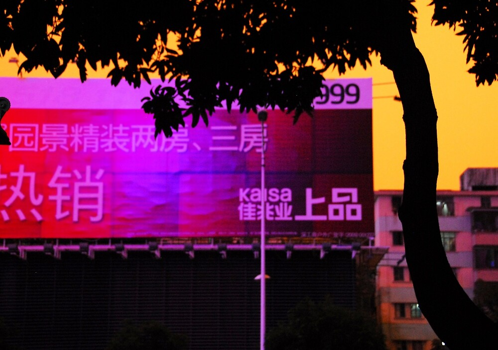 China  Beijing Billboard by noelmiller