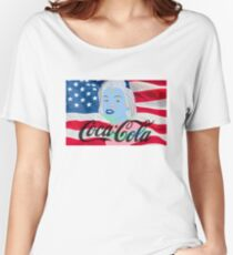 Marilyn Monroe American Flag Graphic  Women's Relaxed Fit T-Shirt