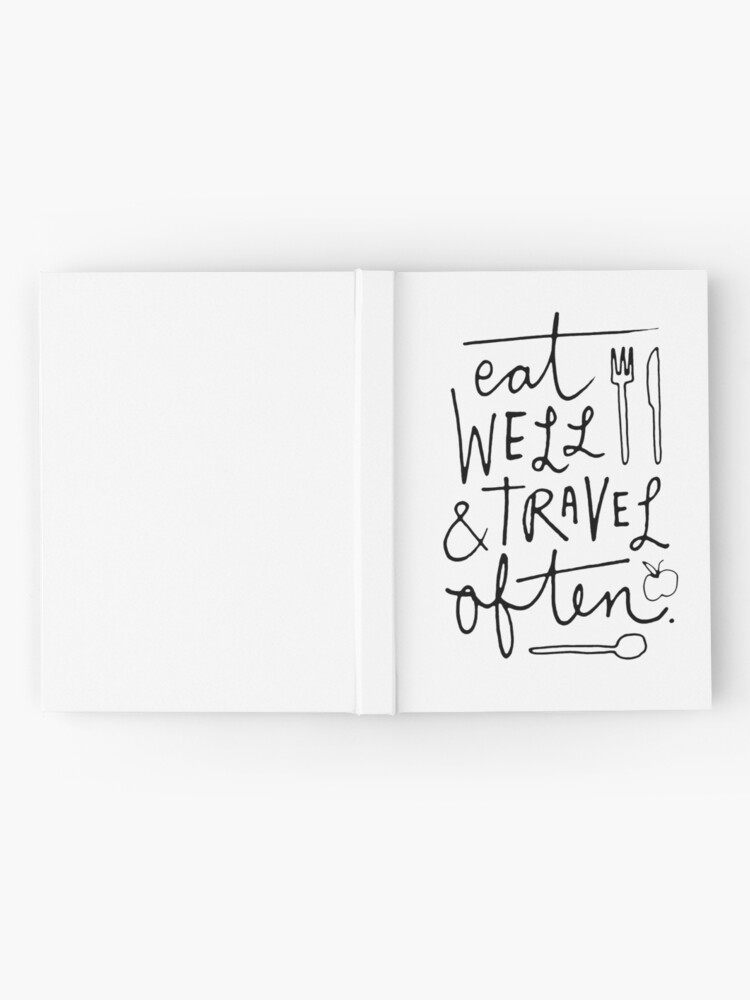 Alternate view of Eat Well & Travel Often Hardcover Journal