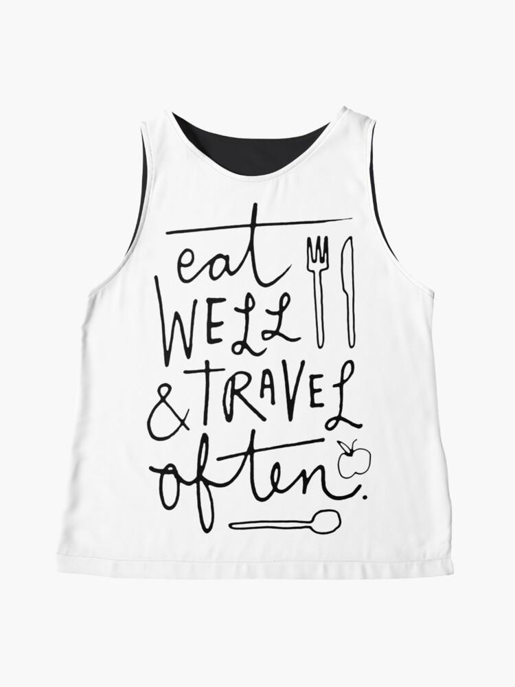 Alternate view of Eat Well & Travel Often Sleeveless Top