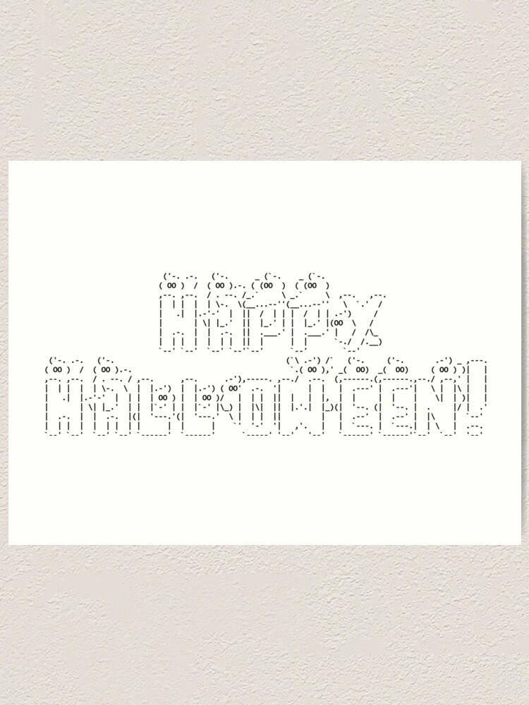 Art happy ascii 1 Line