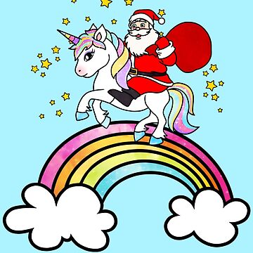Santa claus and unicorn by Smjjms