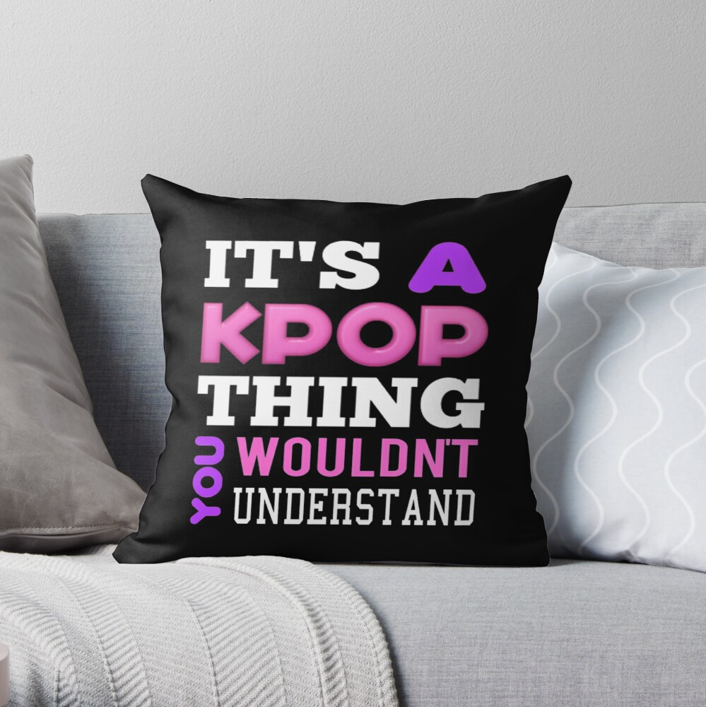A KPOP THING - BLACK Throw Pillow