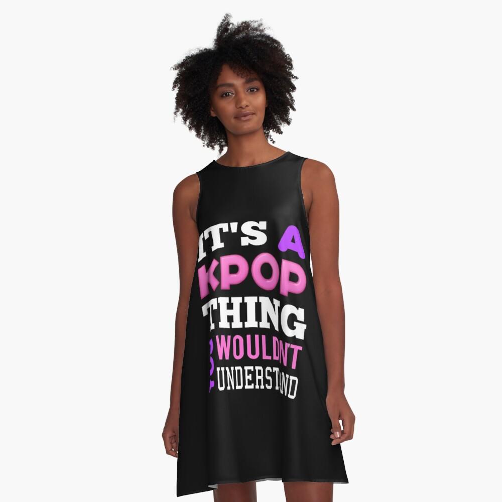 Ein KPOP THING - SCHWARZ A-Linien Kleid