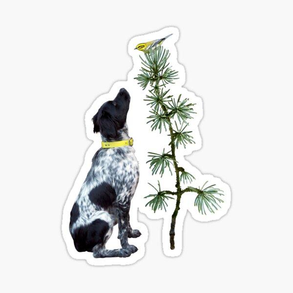 Dog Yellow Bird Sticker