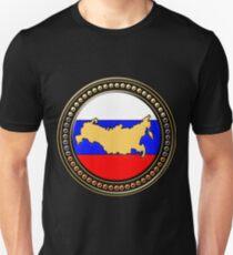 Russland Flagge Landkarte Unisex T-Shirt
