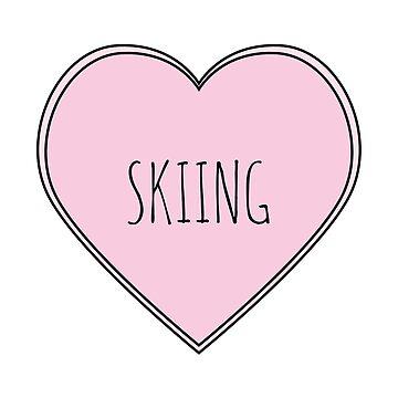 Skiing Heart by teesaurus