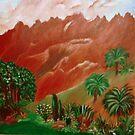 THE RED VOLCANO by Sherri Palm Springs  Nicholas