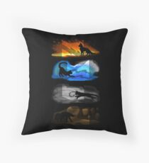 Warrior Cats: Four Elements, Four Clans Throw Pillow