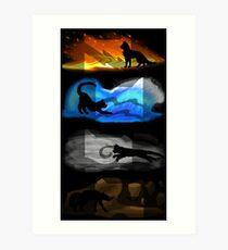 Krieger Katzen: Vier Elemente, vier Clans Kunstdruck