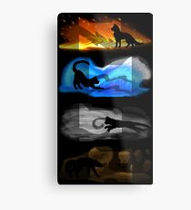 Warrior Cats: Four Elements, Four Clans Metal Print