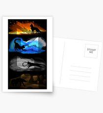 Warrior Cats: Four Elements, Four Clans Postcards