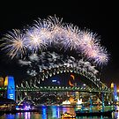 Sydney New Year Eve 2009 Fireworks by Gino Iori
