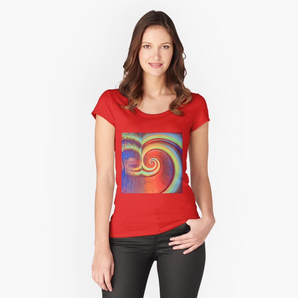 Fibonacci abstract reflections Fitted Scoop T-Shirt